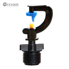 MUCIAKIE 5PCS 180 Degrees Refraction Misting Sprinklers w/ 1/2'' Threaded Adaptor G-type Irrgation Nozzle Spray Rotary Watering
