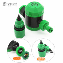 2 Hours Garden Irrigation Mechanical Timer with 4/7 8/11mm Barb Connnector 2/4 Way Hose Water Splitter 120 Mins Water Controller