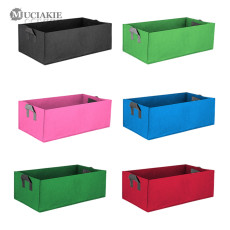 MUCIAKIE 3PCS Rectangular Herb Vegetables Tomato Fruits Planting Grow Bags Garden Square Green Growing Bags Gardening Tool