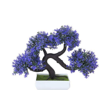 Dragon Colorful Flower Bonsai Tree with Pot Artificial Plant Decoration for Home Office Desk Courtyard Windowsill