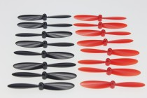 4 sets Hubsan X4 H107 Quadcopter Blades Propeller H107-A35 Black / Red for H107 / H107L / H107C RC Helicopter