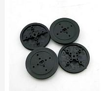 JMT 5Pcs 36mm Black Plastic D Hole Pulley TT Motor Wheel Transmission Wheel DIY Robot RC Car Toy Accessories