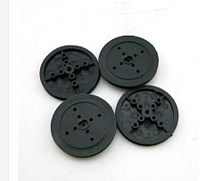 JMT 5Pcs 36mm Black Plastic D Hole Pulley TT Motor Wheel Transmission Wheel DIY Robot RC Car Toy Accessories