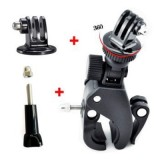 Fast Clip Release Bike Handbar Mount Dia 17-35MM Bar + Tripod Mount Adapter + Long Screw with Cap for GoPro HERO 3
