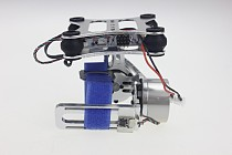Aluminum 2-axis Gimbal Camera Mount PTZ Steady with Brushless Motor Controller for DJI Phantom Trex 500 / 550 Series