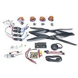 Necessity kits for 4-Aix RC Drone Heli 700KV Motor+30A ESC+1555 Props