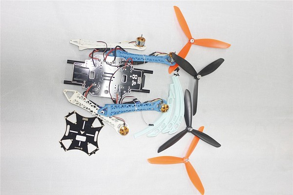 DIY Drone Quadcopter Upgraded Kit S500-PCB 1045 3-Propeller 4Axis Multi-rotor UFO No Battery / Charger / RX / TX