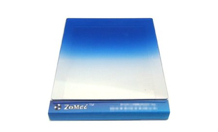 Zomei 1 Piece 83*95mm Camera DSLR Square Blue Colors Graduated Filter Lens Compatible with P Series Filter Holders