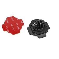 360 Degree Turn Lock Helmet Mount Adapter w/ 3M Sticker Curved Base for Gopro hero5 4/3/3+/2 Camera