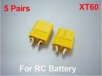 5Pairs XT60 Bullet Connectors Connector Plug Male & Female For RC ESC lipo battery