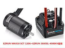Hobbywing EZRUN MAX10 SCT 120A Brushless ESC + 3660 G2 3200KV/ 4000KV/4600KV Sensorless Motor Set for 1/10 RC Car Truck