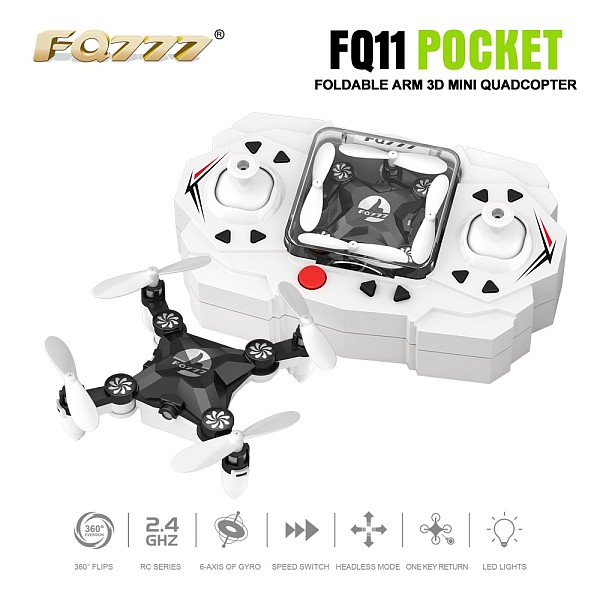 FQ777 FQ11 With Foldable Arm 3D Mini 2.4G 4CH 6 Axis Headless Mode Portable RC Quadcopter Helicopter One Key Return RTF