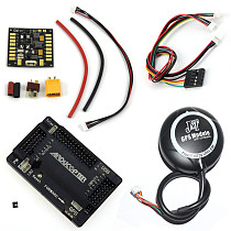 APM 2.8 Flight Controller Kit with 6M GPS Connect Cable Power Distribution Board 5.3V BEC for FPV DIY RC Drone Aircraft