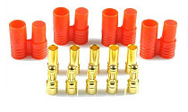 3.5mm Banana Gold Bullet Connector Plug with Housing for ESC