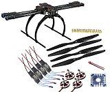 Tarot 650 4-Axis Folding Aircraft RTF Kit: Tarot 3k Aircraft Frame + 750kv Motor + Hobbywing ESC + 1455 Propeller