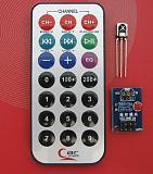 Infrared Remote Control MCU Module + Receiver Head HX1838 + Coded Infrared Remote Control