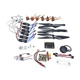 DIY GPS Drone 6-axis Aircraft Electronic:920KV Brushless Motor 30A ESC BEC 1038 Propeller GPS APM2.8 Flight Control