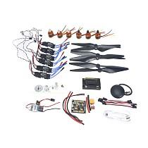 DIY GPS Drone 6-axis Aircraft Electronic:920KV Brushless Motor 30A ESC BEC 1038 Propeller GPS APM2.8 Flight Control
