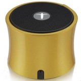 AbramTek Portable Wireless Speaker TF FM Radio Built in Mic MP3 Subwoofer Gold