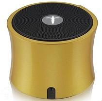 AbramTek Portable Wireless Speaker TF FM Radio Built in Mic MP3 Subwoofer Gold