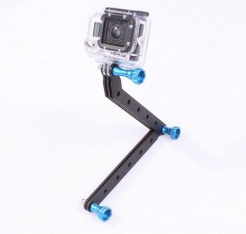 CNC Machining Aluminum Alloy Extension Arm and Screws For Gopro HD Hero3 Hero 3