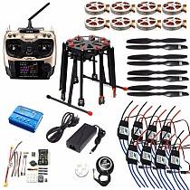 DIY GPS Drone Tarot X8 TL8X000 8-Axis Folding Frame 350KV 40A PX4 32 Bits Flight Controller Radiolink AT9S Transmitter