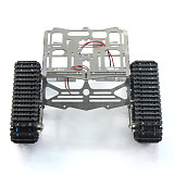 Metal Robot Chassis Track Arduino Tank Chassis Wali w/ Motor Stainless Steel