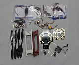 RC 4 Axis Multi heli Quadcopter ARF Kit : F450 Frame + KK Flight Control Board + HOBBYWING ESC + Carbon Fiber Pros
