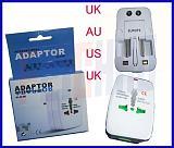 US AU EU UK socket AC Power Charger Adaptor , All in one Universal International Travel Plug Adapter