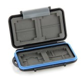 F09026 MC-2 Anti-shock Waterproof ABS Rubber Memory Card Case Holder Hard Storage Box for 4x CF / 8x SD