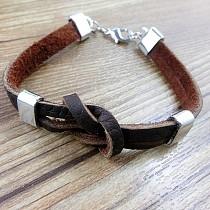 1 Piece Vintage Punk Artificial Leather Alloy Bracelet Charm Bracelet for Man Boy F14979