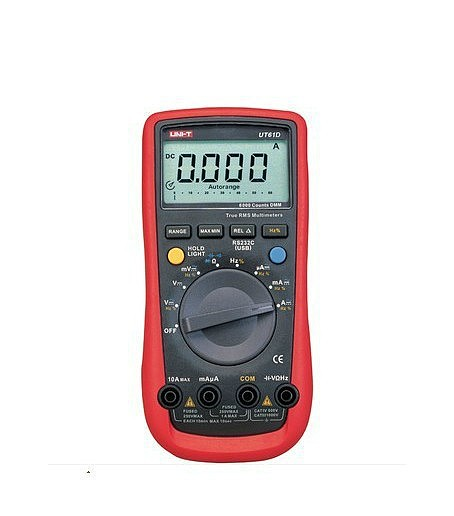 F07838 Intelligent Digital Multimeter UT61D AC DC LCD Meter Detector Tool Detect Instrument