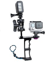 Action Sport Camera Accessories Aluminum Alloy CNC diving Handle Grip Monopod Arms Mount for Gopro HERO3/3+/4/5