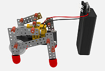 TYMX DIY Double Drive Quadruped Robot plastic puzzle Toy Technology Manual for Children Kids Educational toys