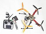 F02192-K  HJ 450 Flamewheel Frame RTF Kit with AT10 TX&RX Aluminum Camera Gimbal Carbon Fiber Landing Gear ESC Motor Wel
