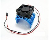 HSP 1/10 540/550/3650 Carbon Brush Brushless Motor Cooling Radiator With Fan For RC Car