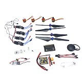 GPS APM2.8 Flight Control 30A ESC BEC 920KV Brushless Motor 9450 Propeller for 4-axis DIY GPS Drone