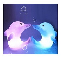 S00040 2pc Color Changed Romatic Dolphin Pattern LED Night Light Lamp Party Decor Wedding Toy Xmas Gift Christmas Light