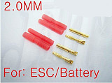 F00912-2 1 pairs 2mm banana plug with housing, ESC LIPO Battery Motor