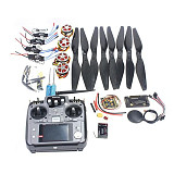 4-Axis Foldable Rack RC Quadcopter Kit APM2.8 Flight Control Board+GPS+750KV Motor+14x5.5 Propeller+30A ESC+AT10 TX