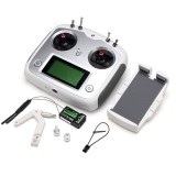 Flysky FS-i6S 2.4G 10CH AFHDS Touch Screen Transmitter + FS-iA6B Receiver + Mobile Holder Set Self Center Throttle Mode