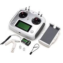 Flysky FS-i6S 2.4G 10CH AFHDS Touch Screen Transmitter + FS-iA6B Receiver + Mobile Holder Set Self Center Throttle Mode