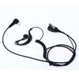 2-Prong Ear Hook Earpiece Headset PTT MIC for Baofeng UV5R Two-Way Radio
