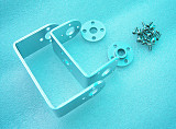Robot Intelligent Car Servo Spare Parts: Metal U holder + Round Servo Mount Bracket with Screws