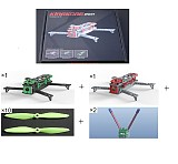 2 Sets 261 PCB Frame Kits Unassembled Integrated Frame Kit Black/Grey with 11 Pairs Propellers