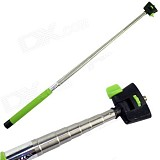 Wireless Bluetooth Handheld Self-Timer Selfie Tripod Green w/ Clamp for Andriod IOS4 Smart Mobile Phone Green