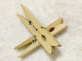 F10072 50pcs Wooden Clip Clothes Peg / Sealing Tights Bag Clip Small Laundry Folder