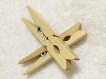 F10072 50pcs Wooden Clip Clothes Peg / Sealing Tights Bag Clip Small Laundry Folder