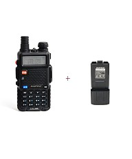 BaoFeng UV5R Dual-Band Two-Way Radio with Extra Extended 3800mAh 7.4V Li ion Battery