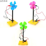 DIY Solar Energy Windmill Model Puzzle Popular Science Toys Educational Bricks 4WD Smart Robot Car Chassis RC Toy